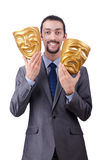 Businessman with mask concealing  identity Royalty Free Stock Photo