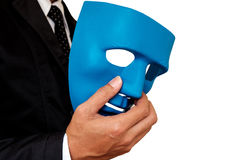 Businessman and mask.