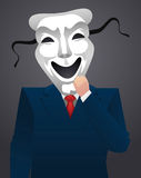 Businessman mask Stock Photo