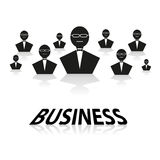 Businessman material icons Royalty Free Stock Photo