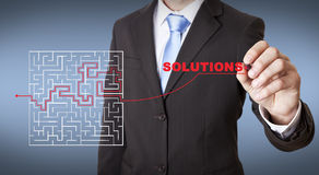 Businessman maze concept Royalty Free Stock Photography