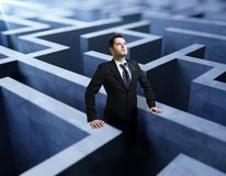 Businessman in maze Royalty Free Stock Image