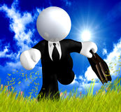 Businessman in the meadow Royalty Free Stock Photo