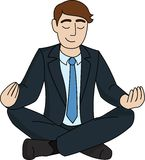 Businessman is meditating Stock Images