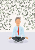 Businessman meditating about money. Stock Photos