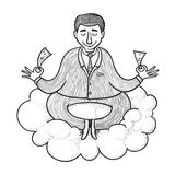 Businessman meditating Royalty Free Stock Photos