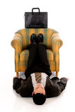 Businessman meditating yoga Royalty Free Stock Photography