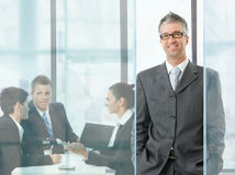 Businessman on meeting Royalty Free Stock Photo