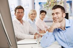 Businessman on meeting Stock Images