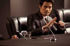 Businessman in a meeting Stock Photos
