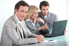 Businessman in a meeting Stock Photography