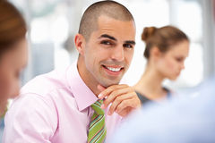 Businessman in meeting Royalty Free Stock Photos