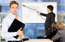 Businessman on a meeting Stock Images
