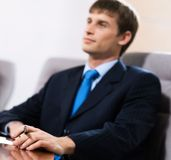 Businessman on the meeting Stock Image