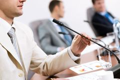 Businessman on the meeting Royalty Free Stock Images
