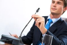 Businessman on the meeting stock photo