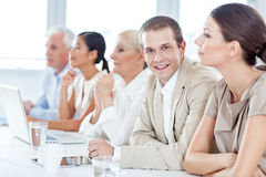 Businessman in a Meeting Royalty Free Stock Photos