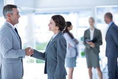 Businessman meeting her partner Royalty Free Stock Images
