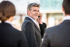Businessman at a meeting Royalty Free Stock Images