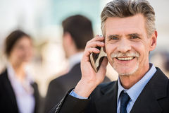 Businessman at a meeting Stock Photo