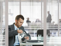 Businessman in meeting room Stock Photos