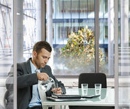 Businessman in meeting room Royalty Free Stock Photo