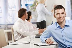 Businessman in meeting room Stock Image