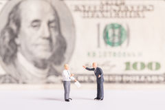 Businessman meeting talk a money. Royalty Free Stock Images