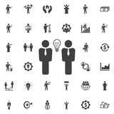 Businessman meeting vector icon. Business icons set Royalty Free Stock Photos