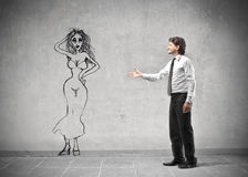 Businessman meeting a woman Stock Images