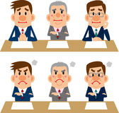 Businessman of meetings and interviews Stock Photos