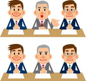 Businessman of meetings and interviews Royalty Free Stock Photography