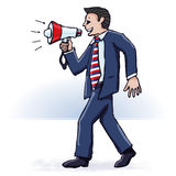 Businessman and megaphone Stock Photography