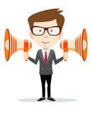 Businessman messenger negotiator with a Stock Photos