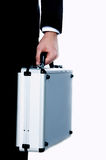 Businessman with metal suitcase Royalty Free Stock Photography