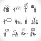 Businessman metaphors 2. Businessman metaphors - figure set collection 2 Royalty Free Stock Photos