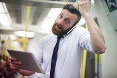 Businessman in metro Royalty Free Stock Photos