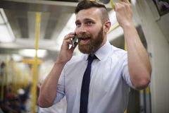 Businessman in metro Royalty Free Stock Photography