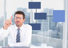 Businessman with mind map Royalty Free Stock Photo