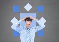 Businessman with mind map Stock Photography
