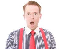 Businessman with minor head injury (shocked version) Stock Photo