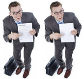 Businessman with Misleading contract Stock Photos