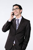 Businessman with mobile Stock Photos