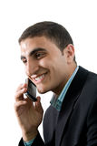 Businessman with mobile Royalty Free Stock Image