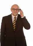 Businessman with mobile Stock Photography