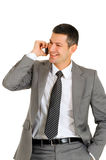 Businessman with mobile phone Royalty Free Stock Image