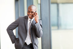 Businessman on mobile phone Royalty Free Stock Image