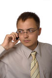 Businessman with mobile phone Stock Image