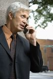 Businessman on mobile phone. Stock Photography