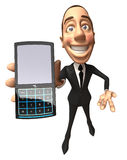 Businessman with a mobile phone Royalty Free Stock Image